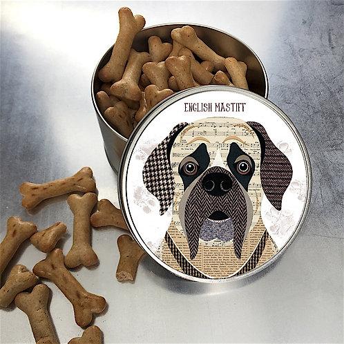 English Mastiff Dog Tin