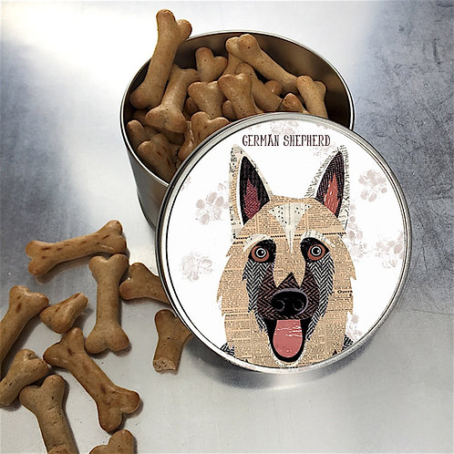 German Shepherd Dog Tin