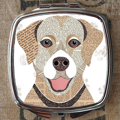 Golden Labrador Dog Compact Mirror