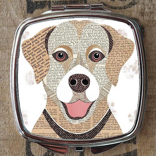 Golden Labrador Dog Compact Mirror