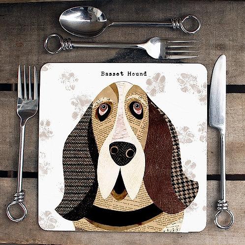 Basset Hound Placemat/Coaster