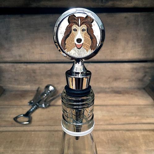 Shetland Sheepdog Dog Bottle Stopper