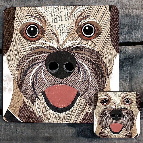 Border Terrier close up Placemat