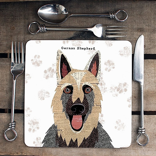 German Shepherd Placemat/Coaster