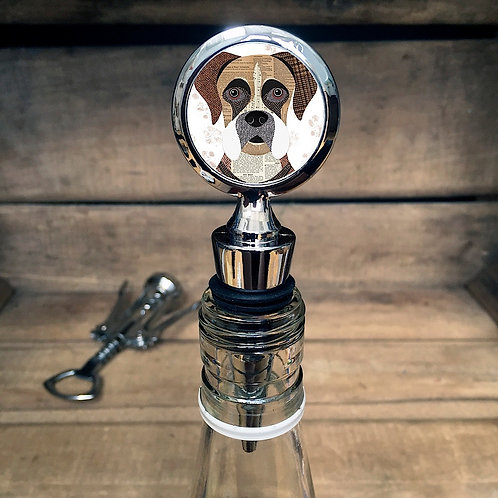 Boxer Dog Bottle Stopper