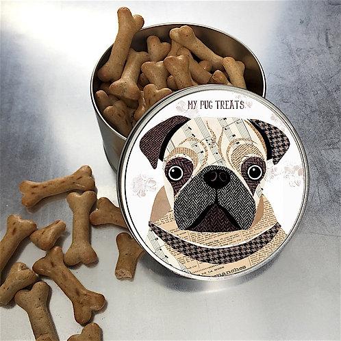 Pug Dog Tin