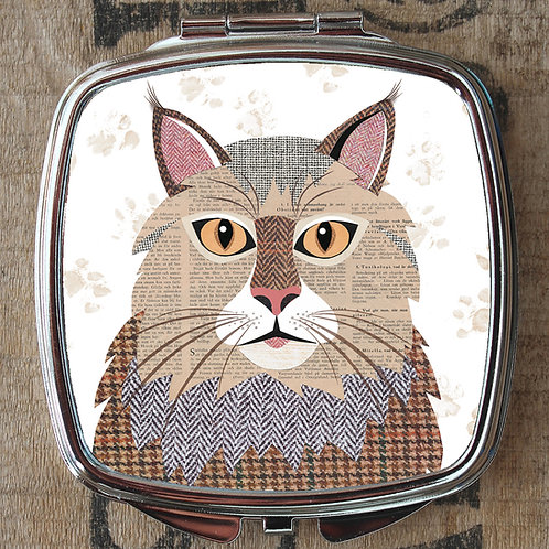 Maine Coon Cat Compact Mirror