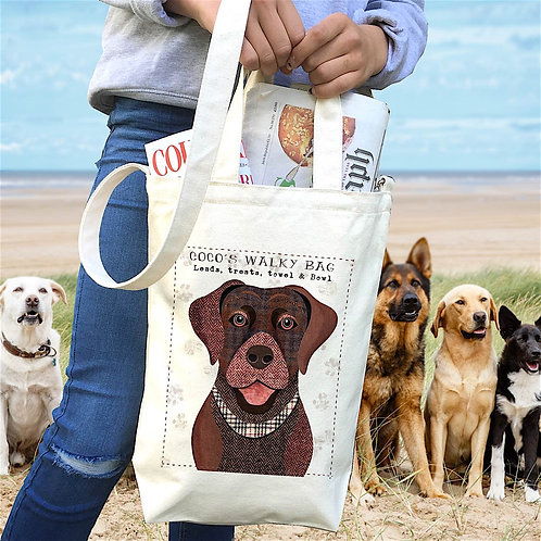 Dog Personalised Dog Bag - 68 Breeds