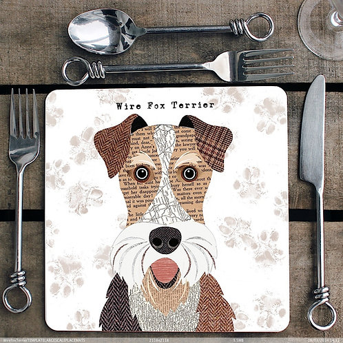Wire Fox Terrier Placemat/Coaster