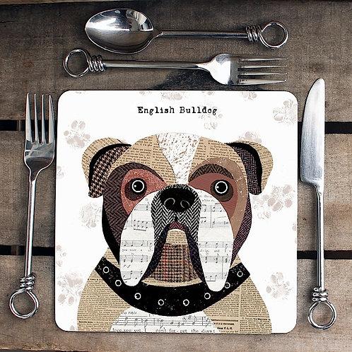 English Bulldog Placemat/Coaster