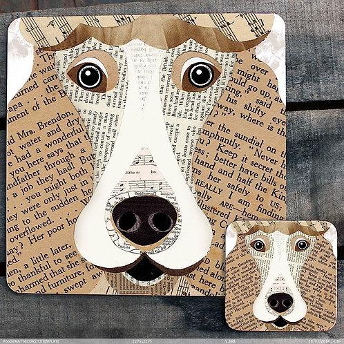 Poodle close up Placemat/Coaster