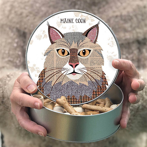 Personalised Maine Coon Cat Tin