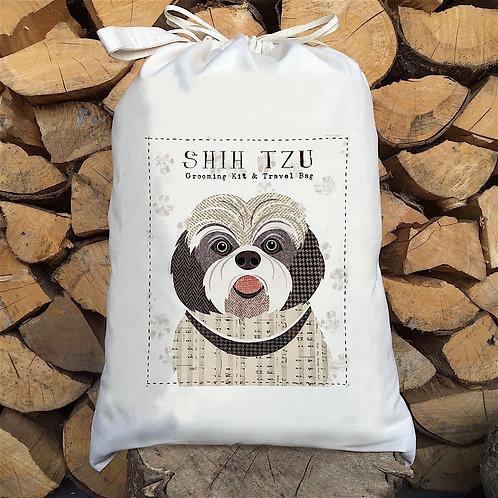 Shihtzu Dog Personalised Large Drawstring Sack