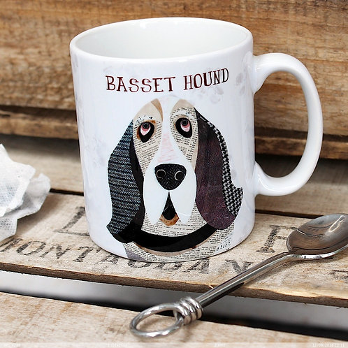 Basset hound dog mug
