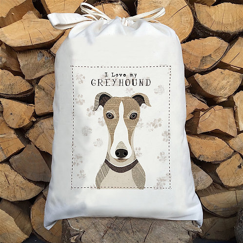 Greyhound dog sack by Simon Hart