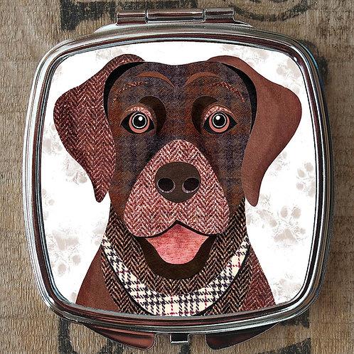 Brown Labrador Dog Compact Mirror