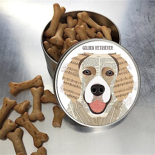 Golden Retriever Dog Tin