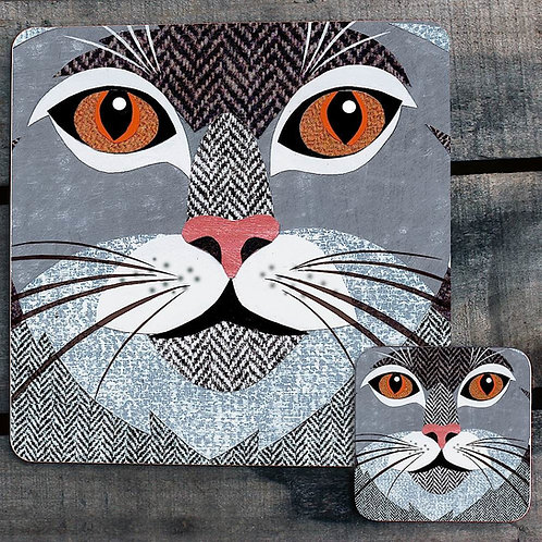 Grey Tabby close up Placemat