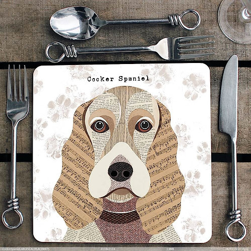 Cocker Spaniel Placemat/Coaster