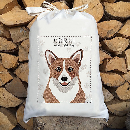 Corgi Dog Personalised Large Drawstring Sack