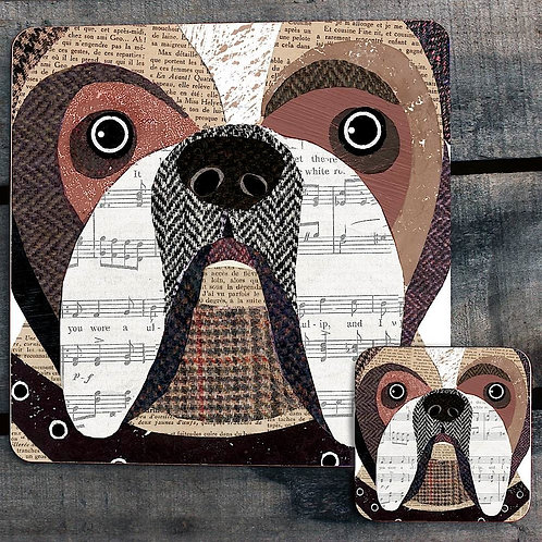 English Bulldog close up Placemat