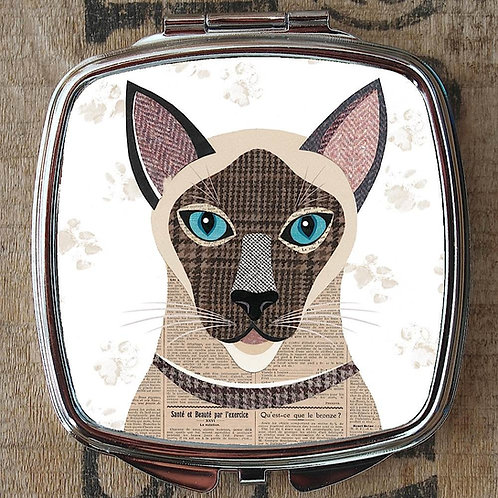 Siamese Cat Compact Mirror