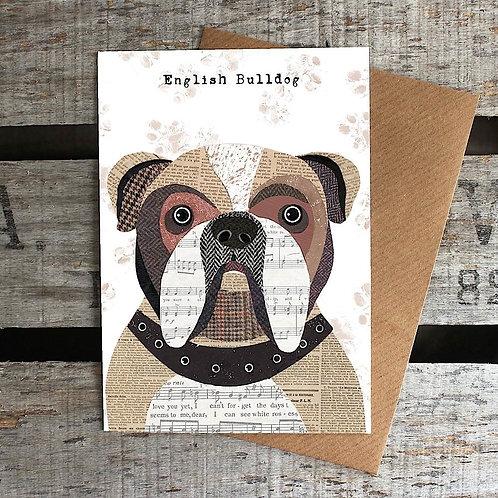 PAW07 - English Bulldog Card