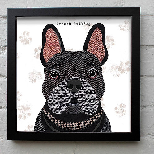 Black Frenchie Dog Art Print