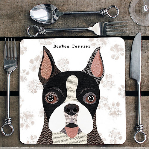 Boston Terrier Placemat/Coaster