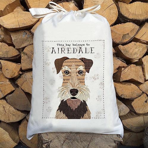 Airedale Dog Personalised Large Drawstring Sack