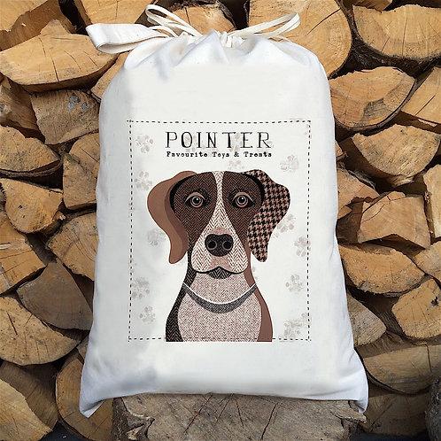 Pointer Dog Personalised Large Drawstring Sack