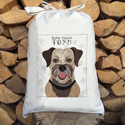 Border Terrier Dog Personalised Large Drawstring Sack