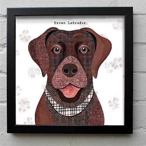 Brown Labrador Dog Art Print