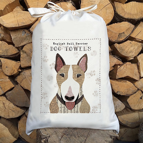 English Bull Terrier Personalised Large Drawstring Sack