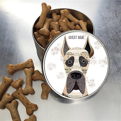 Great Dane Dog Tin