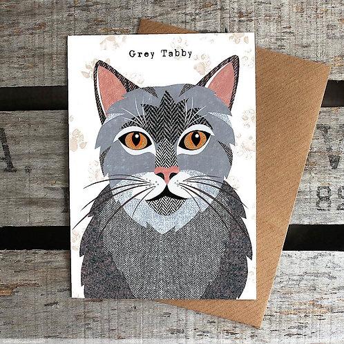 PURR 05 Grey Tabby Card