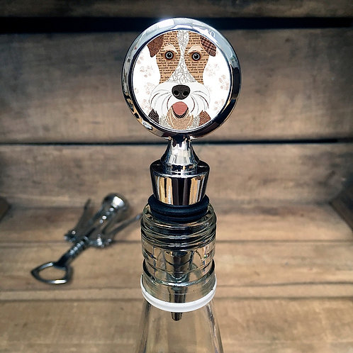 Wire Fox Terrier Dog Bottle Stopper