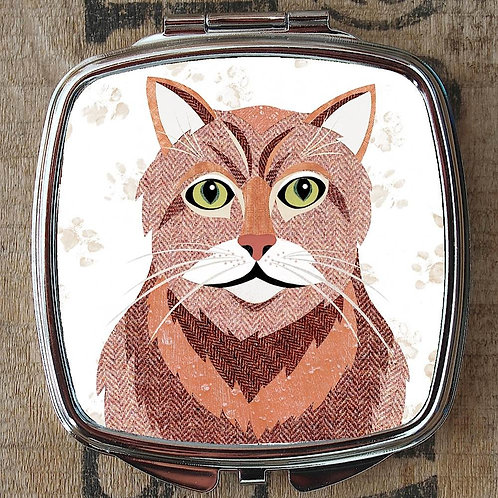 Ginger Cat Compact Mirror