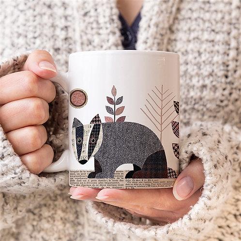 Tweed Badger Personalised Mug