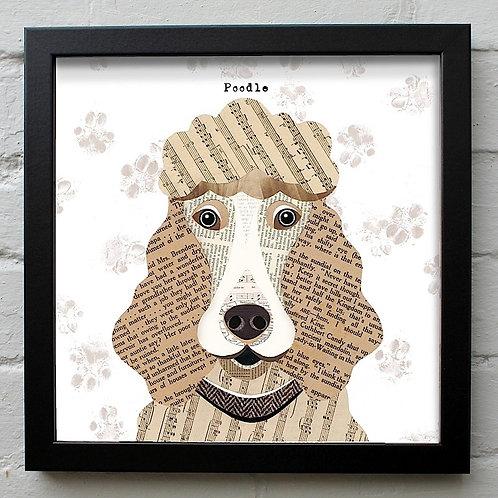 Poodle Dog Art Print