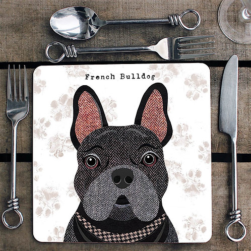 Black French Bulldog  Placemat/Coaster