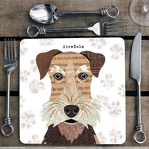 Airedale Placemat/Coaster