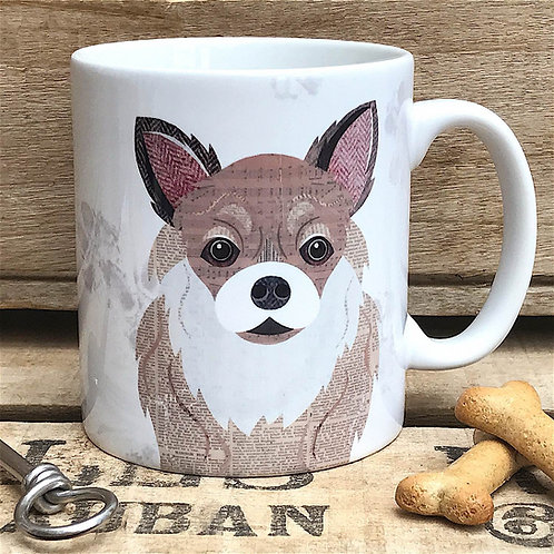 Long Haired Chihuahua Dog Mug