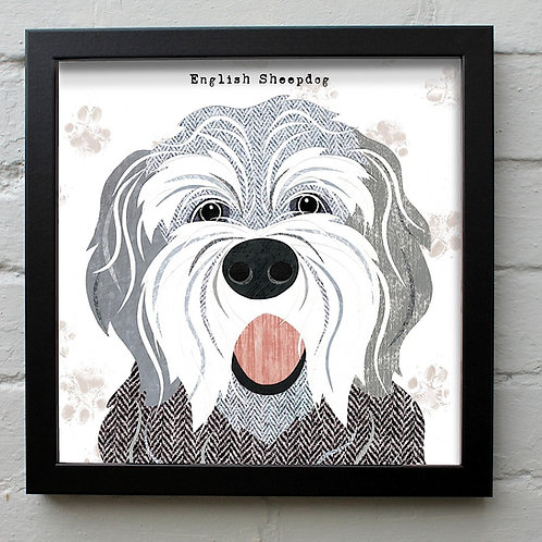 English Sheepdog Art Print