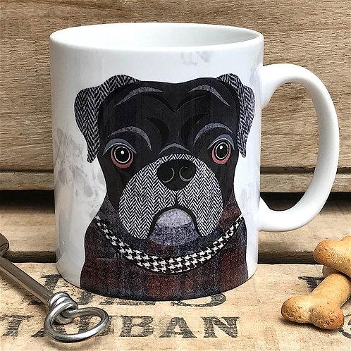 Black Pug Dog Mug