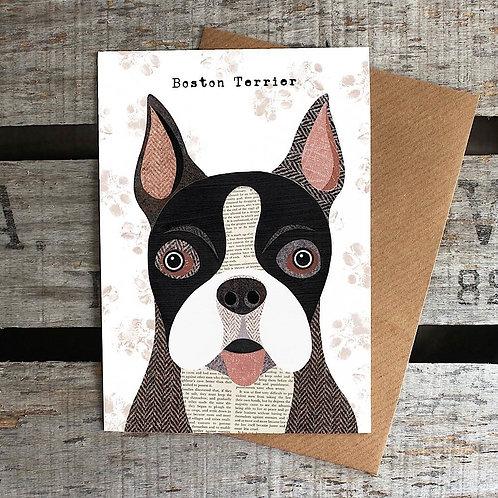 PAW15 - Boston Terrier Card