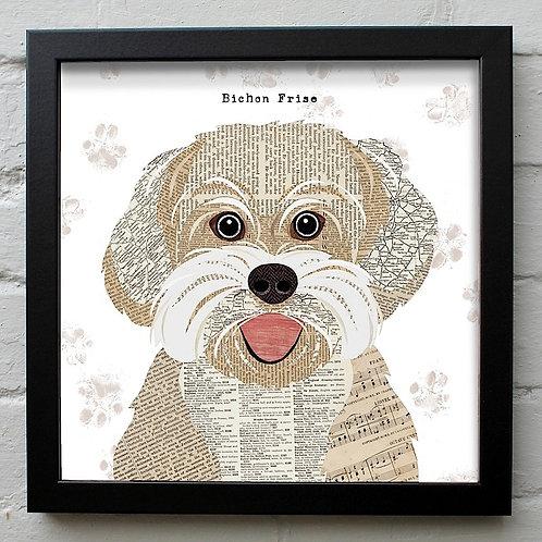 Bichon Frise Dog Art Print