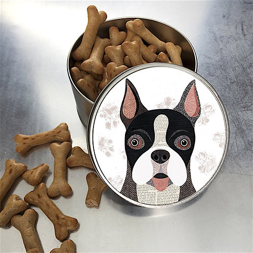 Boston Terrier Dog Tin