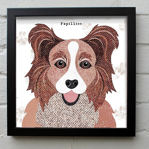 Papillion Dog Art Print