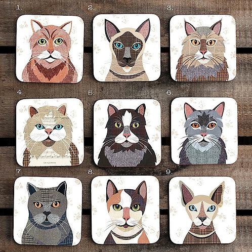 Cat Coaster 'Purrtrait' sets